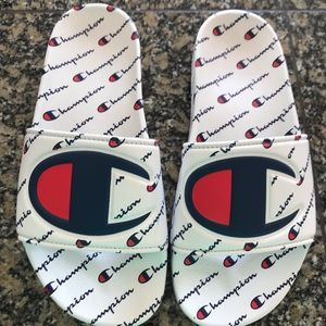 Youth Size 5 Champion Slides worn once